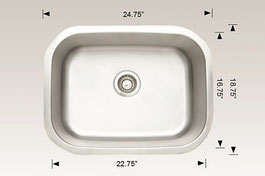 hu207005 bosco undermount sink