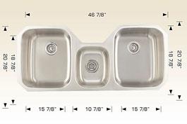 bosco  undermount kitchen sink 207027