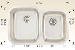 bosco  undermount kitchen sink 207035