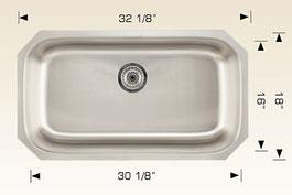 bosco  undermount kitchen sink 207026