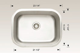hu207015 bosco undermount sink