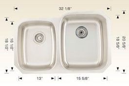 bosco  undermount kitchen sink 207036