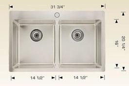 bosco drop in kitchen sink T208026