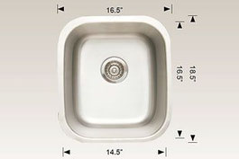 hu207007 bosco undermount sink