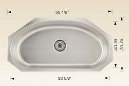 2bosco  undermount kitchen sink 07034