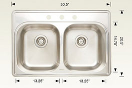t207001 drop in sink