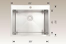 bosco  drop in kitchen sink t202222