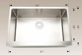 bosco  undermount farmhouse apron kitchen sink  203626