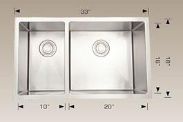 bosco  undermount kitchen sink 203322r