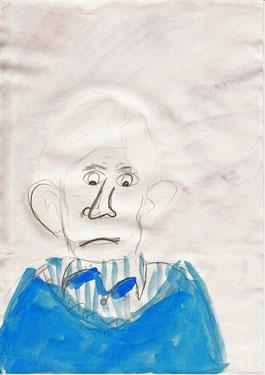April 2014 Ria (8 Jahre) »Ulf zeichnet« Bleistift, Aquarellfarbe 29,7 x 21 cm