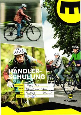 Bild: Urkunde Magura Service Fahrrad Mix Baabe Federgabel und Bremse
