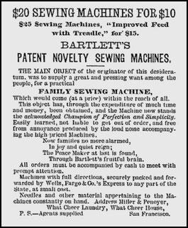 June - July 1862 Advertisement