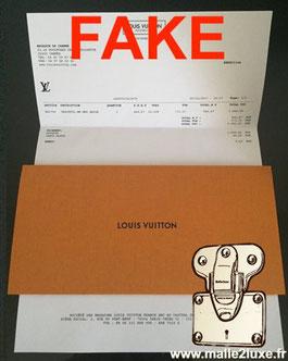 Facture Louis Vuitton duplicata contrefacon de sac attention