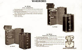 old black and white advertising trunk wardrobe