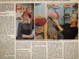 Bericht über Eröffnung von Hauptsache Charlotte in Mehring.