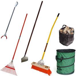 Umgebungspflege und Reinigung im Garten