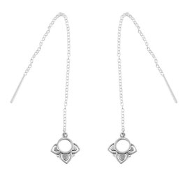 925 sterling zilver lotus earring oorbel