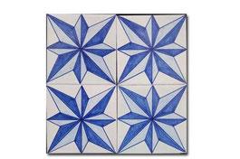 4 azulejos de 13 x 13 con estrella