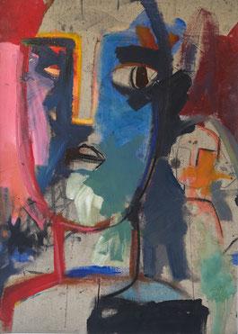L'inquiète, Juillet 2019 80 cm x 50 cm Acrylique et fusain