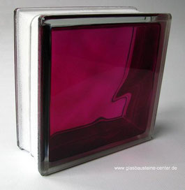 BRILLY Ruby 1919/8 Wave Kräftige Farben Rubinrot Strong Shades Basic Glasbaustein Glasbausteine Glass Blocks Glasstein Glassteine Glasbausteine-center glasbausteine-center.de stiklo blokeliai blociau gwydr bloic ghloine זכוכית בלוקים גלאז בלאַקס  Blokki t