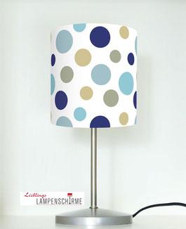 Tischlampe für Kinder mit Punkten aus Baumwolle