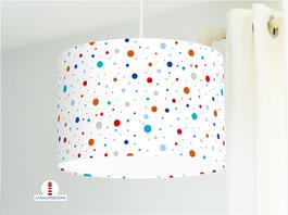 Lampe fürs Kinderzimmer und Babys mit bunten Punkten Konfetti aus Bio-Baumwollstoff