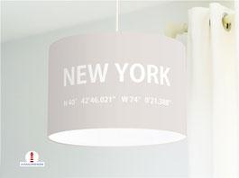 Lampe für Jugendzimmer und Stehlampe mit Stadt New York aus Baumwolle