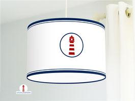 Lampe fürs Wohnzimmer und als Stehlampe mit Leuchtturm ganz maritim aus Bio-Baumwolle