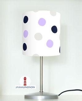 Tischlampe für Mädchen und Kinderzimmer mit großen Punkten aus Baumwolle