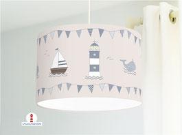 eSchiff Lampe Kinderzimmer maritim aus Baumwollstoff - alle Farben möglich