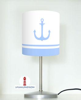 Tischlampe für Kinder und Schlafzimmer mit Ankern aus Baumwolle