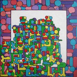acrylique sur toile 50x50
