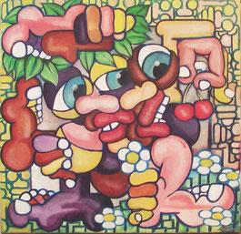 acrylique sur toile 30x30
