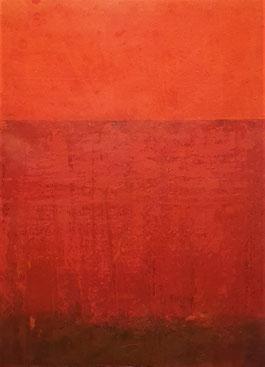 Acryl auf Papier / 56x76 /  August 19 / Rot 1