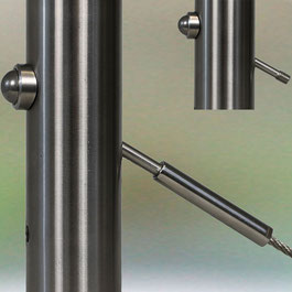 D-Ball Head on 42mm posts with BO8699 aduster screw and D40 Terminal