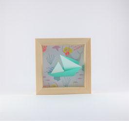 Cadre origami Bateau - Format 11x11cm - 20€