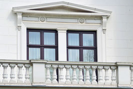 Bremer Haus mit Balkon