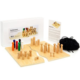 Familienbrett | Systembrett aus hochwertigem Holz für Familienaufstellung und Coaching