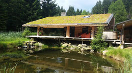 Blockhütte am See © Nordic Camp Grünbach