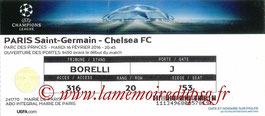 Ticket  PSG-Chelsea  2015-16