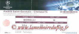 Ticket  PSG-Chelsea  2014-15
