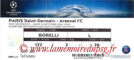 Ticket  PSG-Arsenal  2016-17