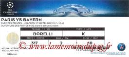 Ticket  PSG-Bayern  2017-18