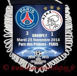 Fanion  PSG-Ajax Amsterdam  2014-15