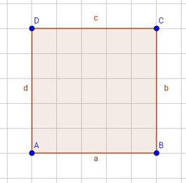 Ein achsensymmetrisches Quadrat