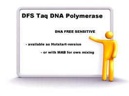 "DFS-Taq  ""Hot Start"" DNA Poylmerase. E. Coli free DNA polymerase"