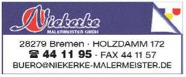 Niekerke Malermeister GmbH - Werbegemeinschaft Habenhausen-Arsten