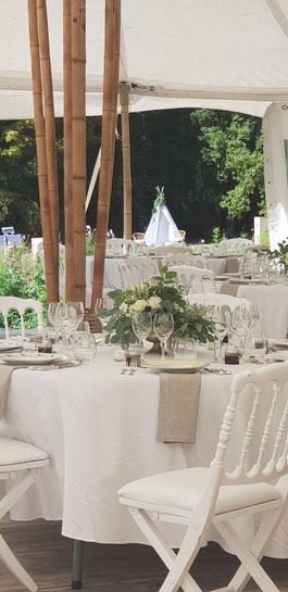 se marier dans un château sous un chapiteau BAMBOU location chapiteau bamboumariage au château île de france paris romantique chic et champêtre