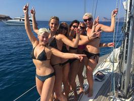 Party op zeilboot