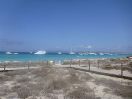 Zeilboten voor Formentera